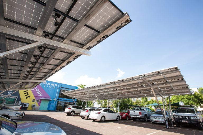 Solar powered car park