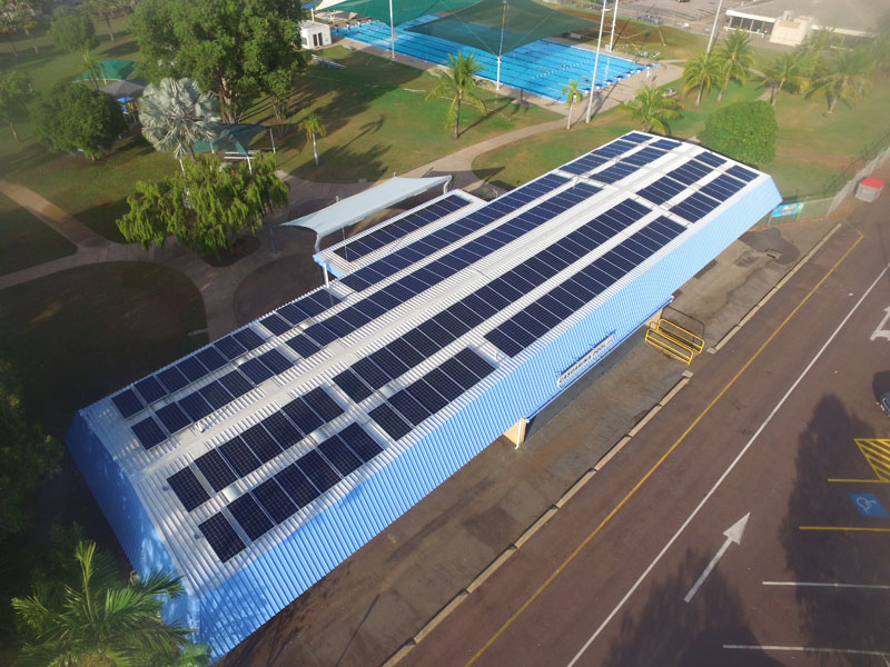 Casuarina Swimming Pool 100kW Solar Installation