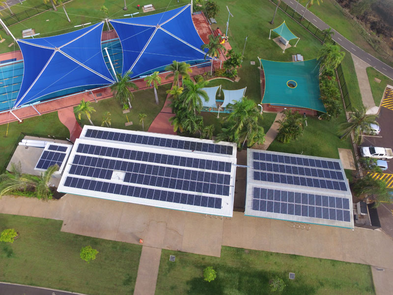 Darwin City Council Nightcliffe Pool 59kW solar installation