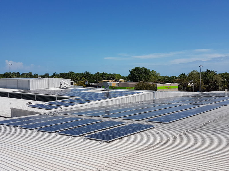 Hibiscus Shopping Centre 350kW solar installation