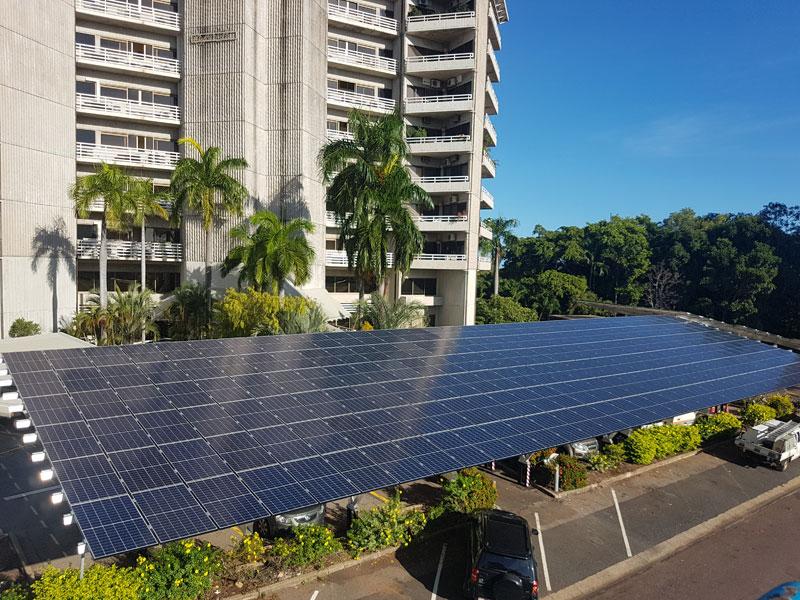 Raffles Plaza solar installation