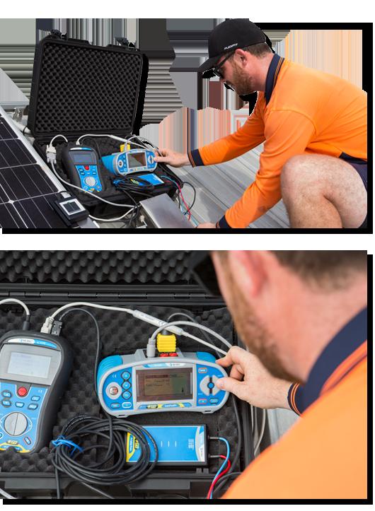 solar panel testing on roof
