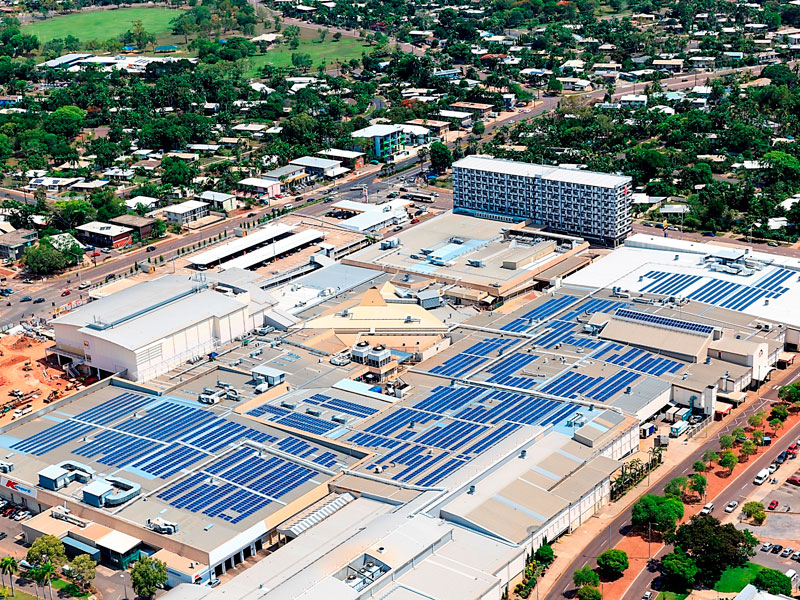 casuarina square boasts 1250kw of rooftop solar