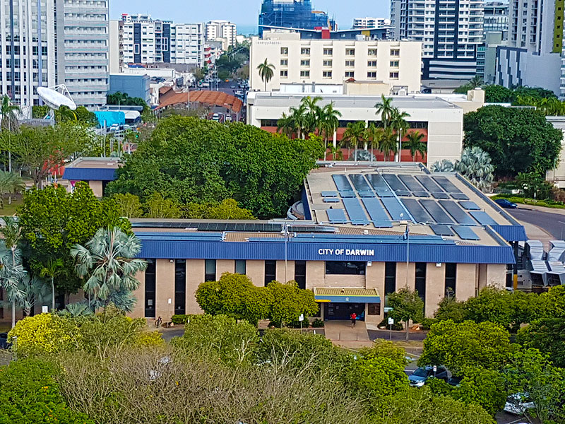 darwin city council solar 216kW solar installation