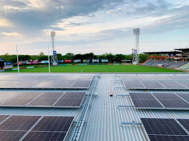 solar power at the AFL Northern Territory