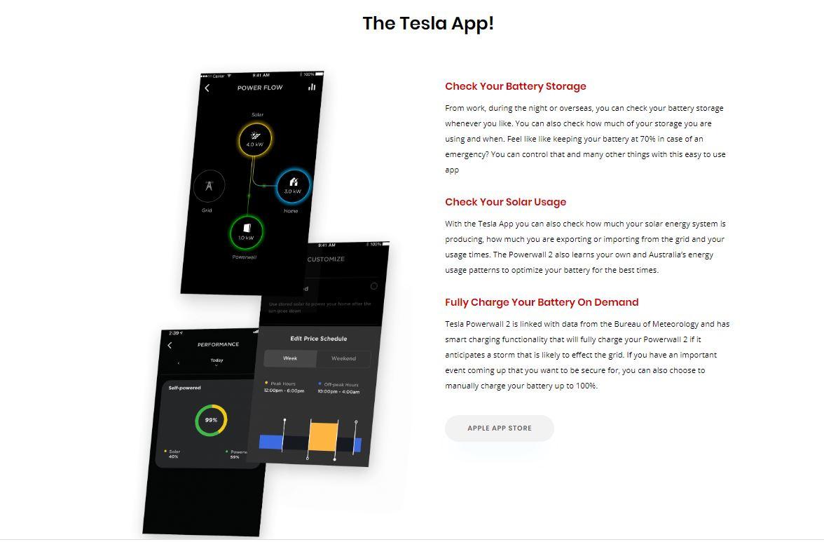 tesla powerwall phone app
